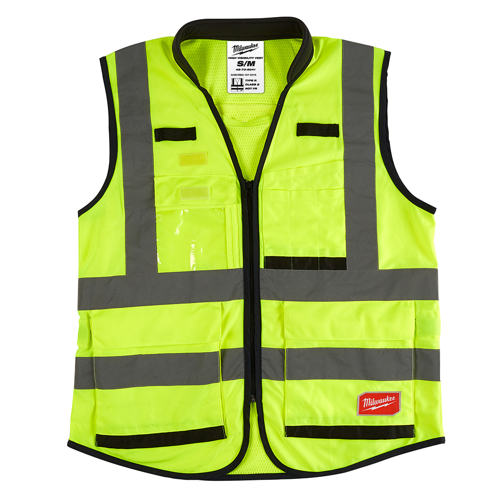 Mayer-High Visibility Yellow Performance Safety Vest - S/M-1