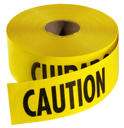 1000 Ft. Yellow Barricade Tape-Caution