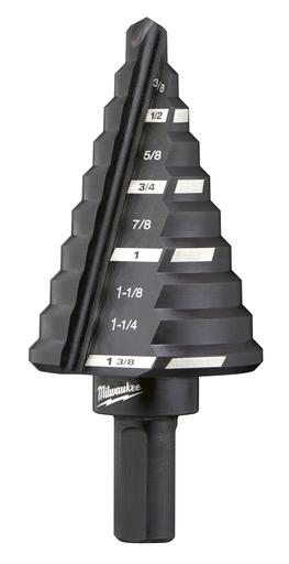 Mayer-#5 Step Drill Bit, 1/4 in. - 1-3/8 in. x 1/8 in.-1