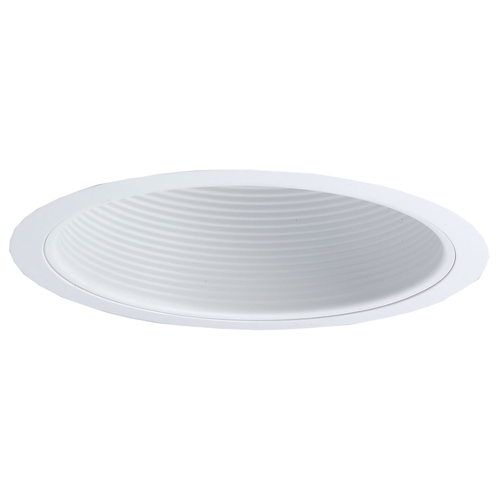 Nora Lighting NTM-31 White Stepped Baffle with Plastic Ring