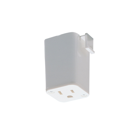 Mayer-Outlet Adaptor, 1 or 2 circuit track, White-1
