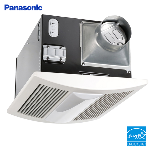 WhisperWarm Lite Fan/Heater/Light Combination, Ventilation Fan, Extremely Quiet, Long Lasting, Easy to Install, White
