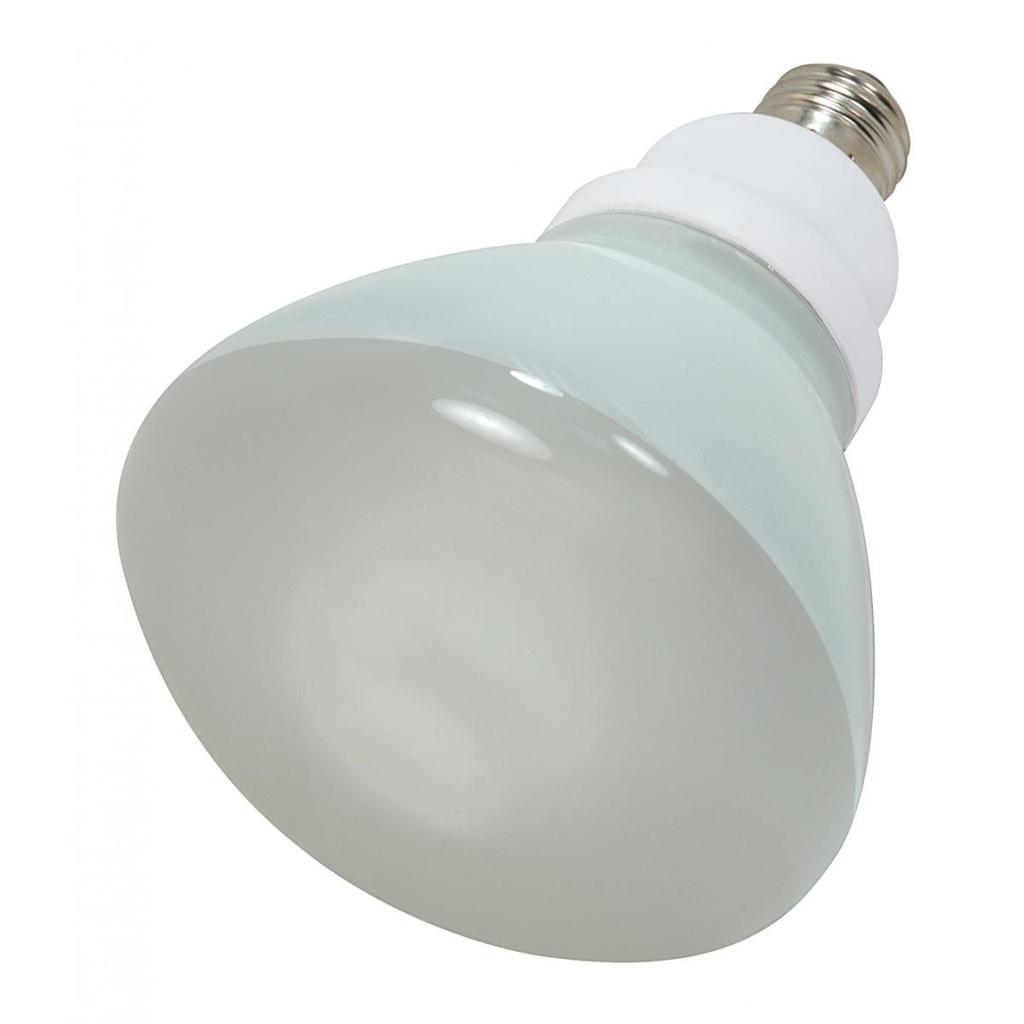 SATCO S7242 23 W 120 Volt 82 CRI 4100 K 1090 Lumen E26 Medium Base R40 Compact Fluorescent Lamp