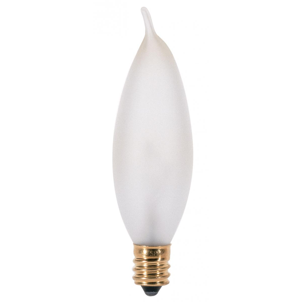 SATCO S3278 25 W 120 Volt 200 Lumen Frosted E12 Candelabra Base CA8 Decorative Incandescent Lamp