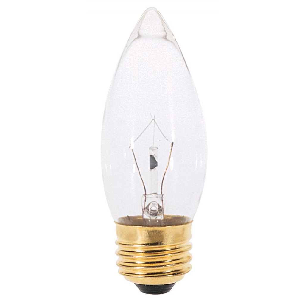 SATCO A3632 40 W 130 Volt 370 Lumen Clear E26 Medium Base B11 Decorative Incandescent Lamp