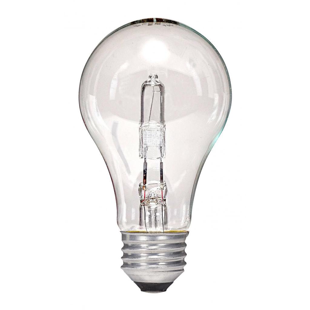 SATCO S2402 43 W 120 Volt 2900 K 750 Lumen E26 Medium Base A19 Halogen Lamp