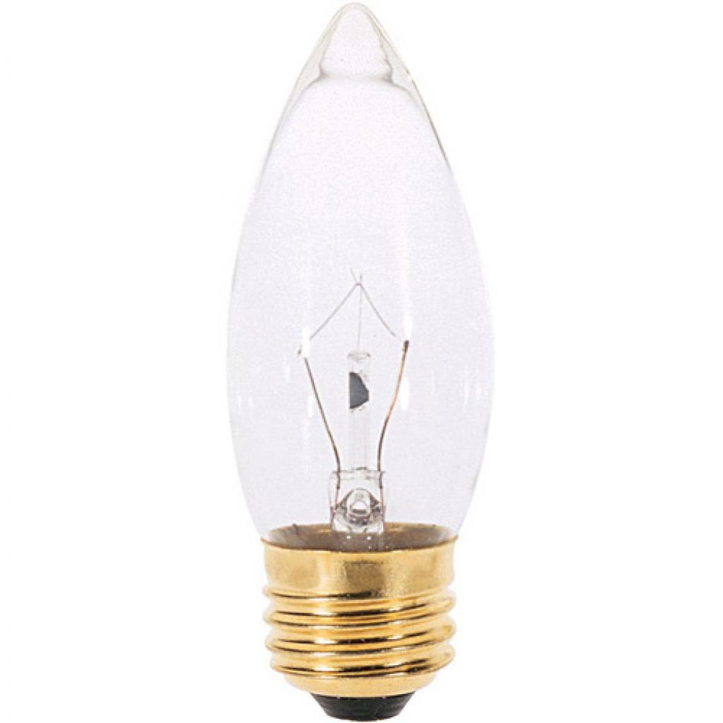 SATCO S4740 2/Card 40 W B10 Clear 300 Lumens Medium Base 120 Volt Incandescent Lamp