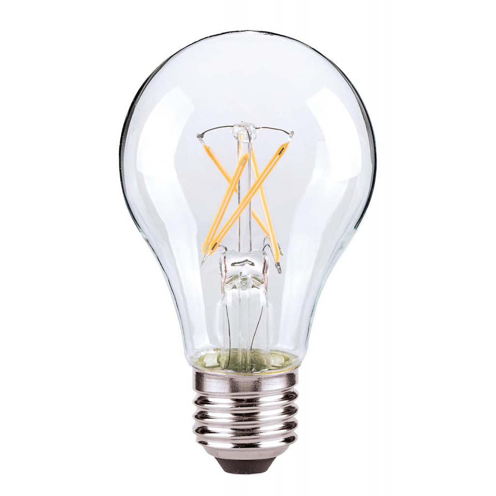 SAT S28850 7W LED A19; CLEAR;MEDIUM BASE; 4000K; 120V