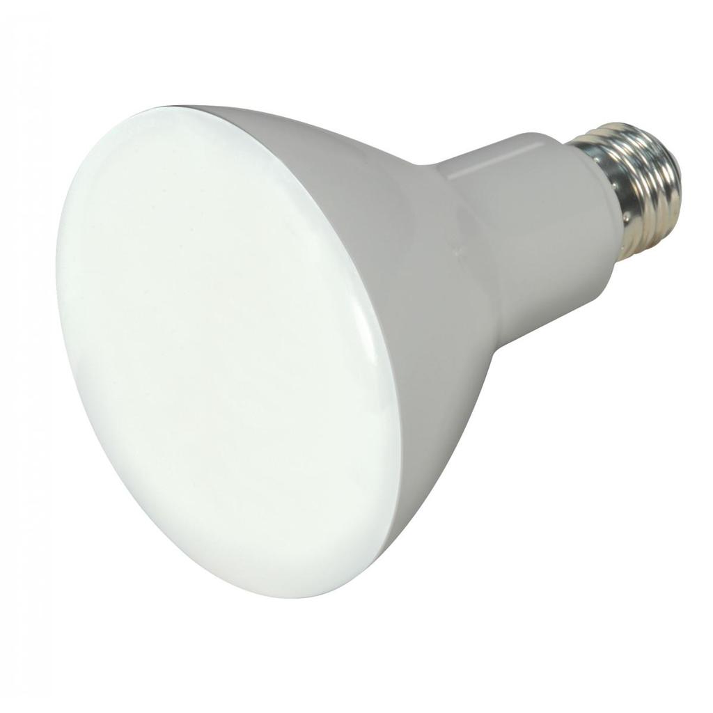 SATCO S9621 9.5 W 120 Volt 80 CRI 3000 K 750 Lumen Frosted E26 Medium Base BR30 Reflector LED Lamp