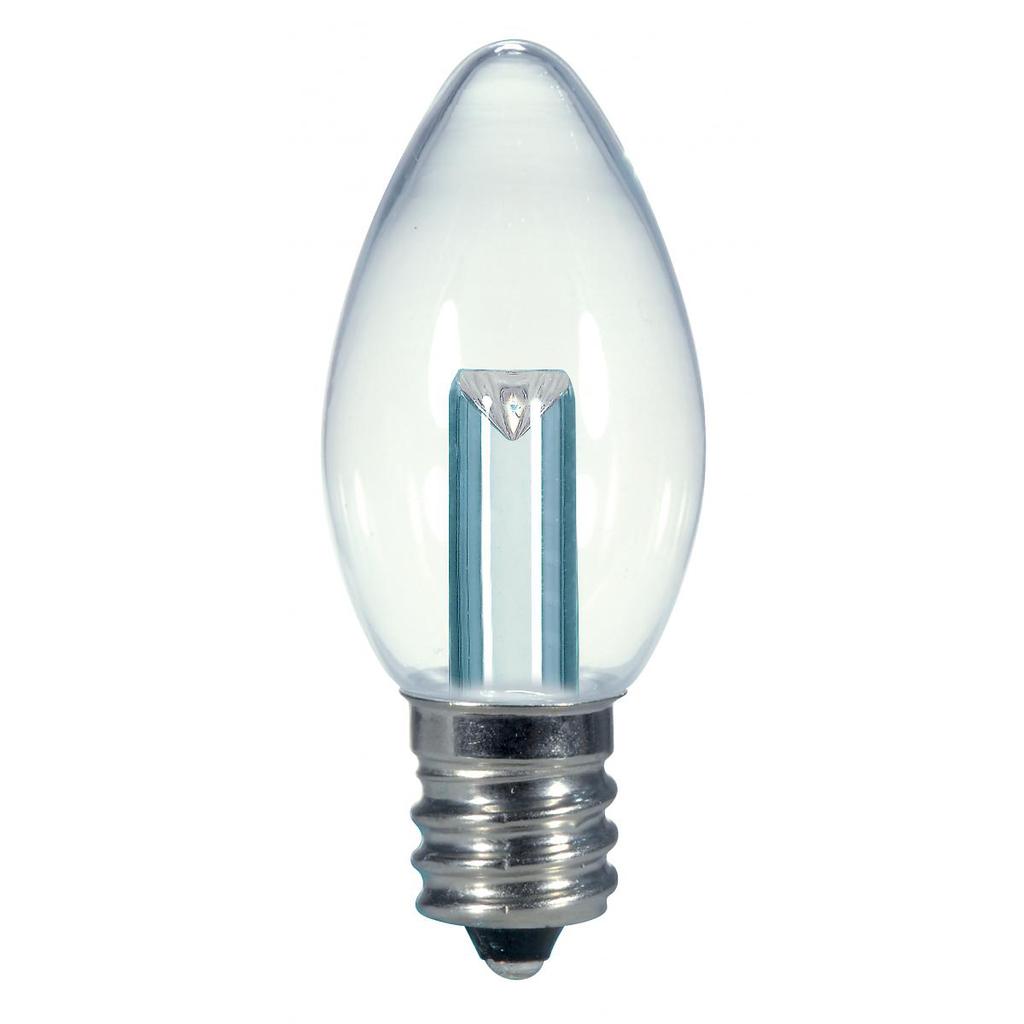 SATCO 0.5W C7/CL/LED/120V/CD S9156