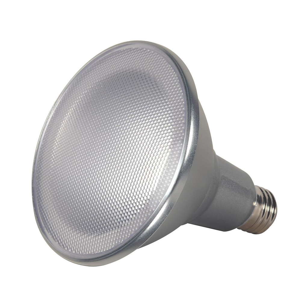 SATCO S9446 15 W 120 Volt 80 CRI 3000 K 1200 Lumen Silver E26 Medium Base PAR38 Reflector LED Lamp