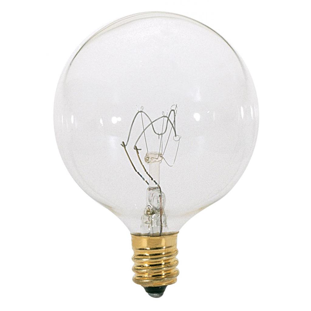 SATCO S3822 25 W 120 Volt 232 Lumen Clear E12 Candelabra Base G16 1/2 Decorative Incandescent Lamp