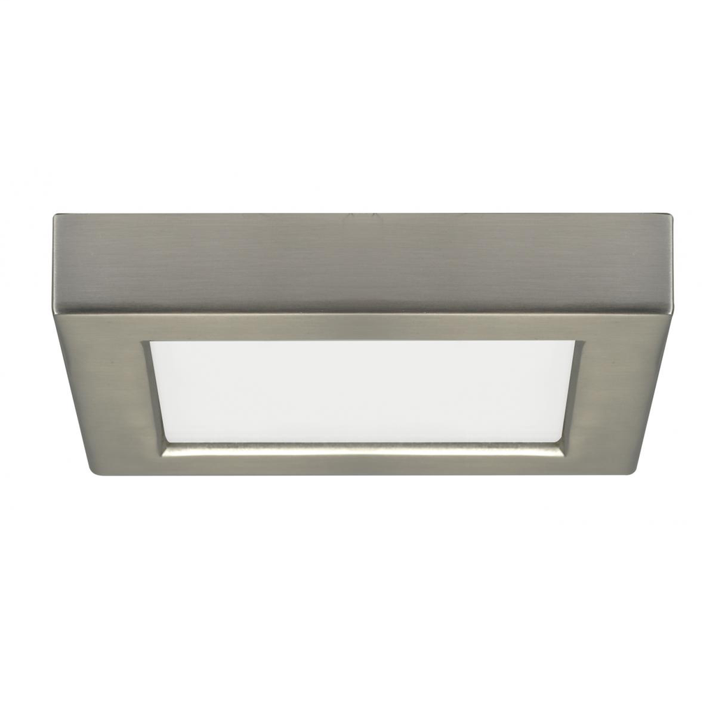 "SAT S21503 10.5 WATT; 5.5"" FLUSHMOUNT LED FIXTURE; 3000K; SQUARESHAPE; BRUSHED NICKEL FINISH; 120VOLTS"