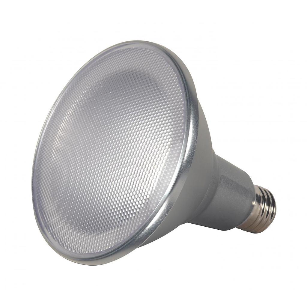 SATCO S9441 15 W 120 Volt 80 CRI 3000 K 1200 Lumen Silver E26 Medium Base PAR38 Reflector LED Lamp