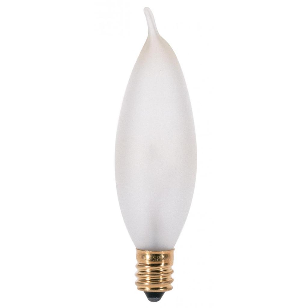 SATCO A3677 15 W 130 Volt 90 Lumen Frosted E12 Candelabra Base CA8 Decorative Incandescent Lamp