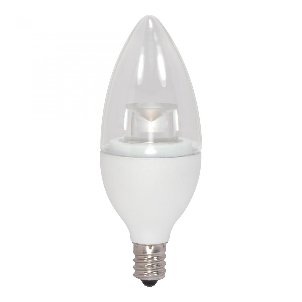 SATCO S8951 4.5 W 120 Volt 80 CRI 2700 K 300 Lumen Clear E12 Candelabra Base B11 Decorative LED Lamp