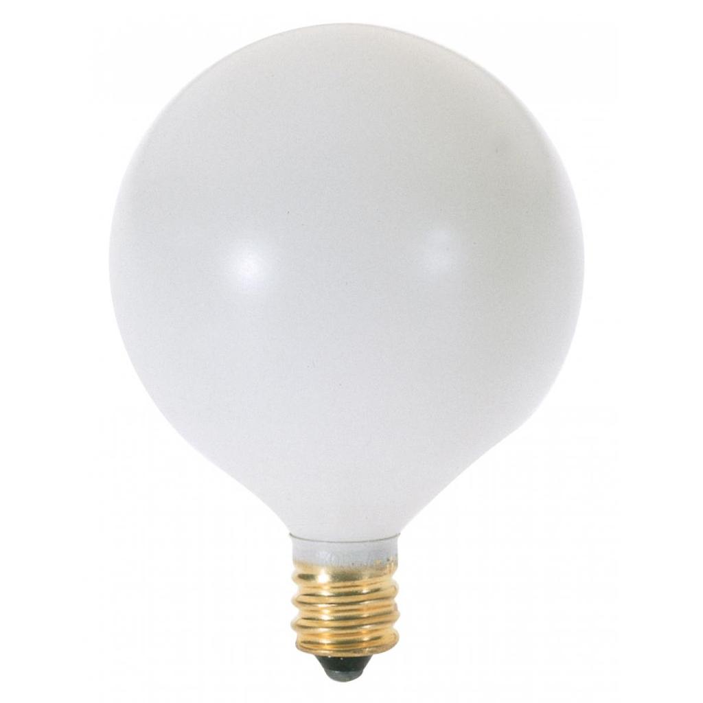 Satco S3832 60 watt 120 Volt G16 White Incandescent Lamp