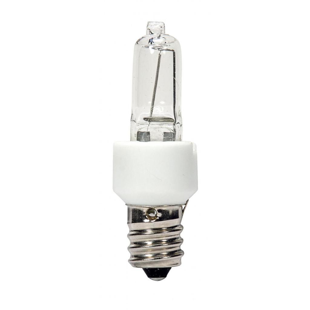 SATCO S4482 60 W 120 Volt 960 Lumen Clear E12 Candelabra Base T3 Halogen Lamp