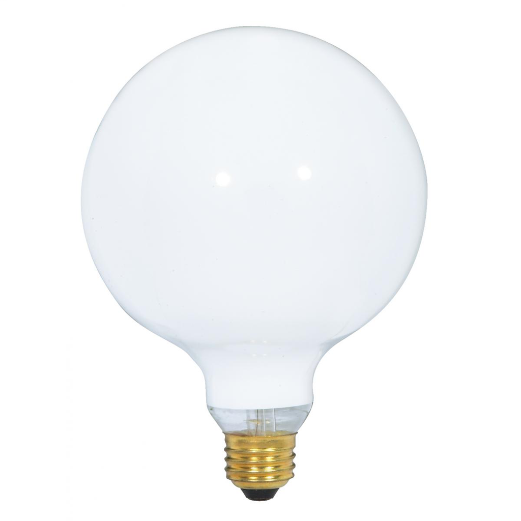 Satco S3003 100 W 120 Volt 1050 Lumen White E26 Medium Base G40 Decorative Incandescent Lamp