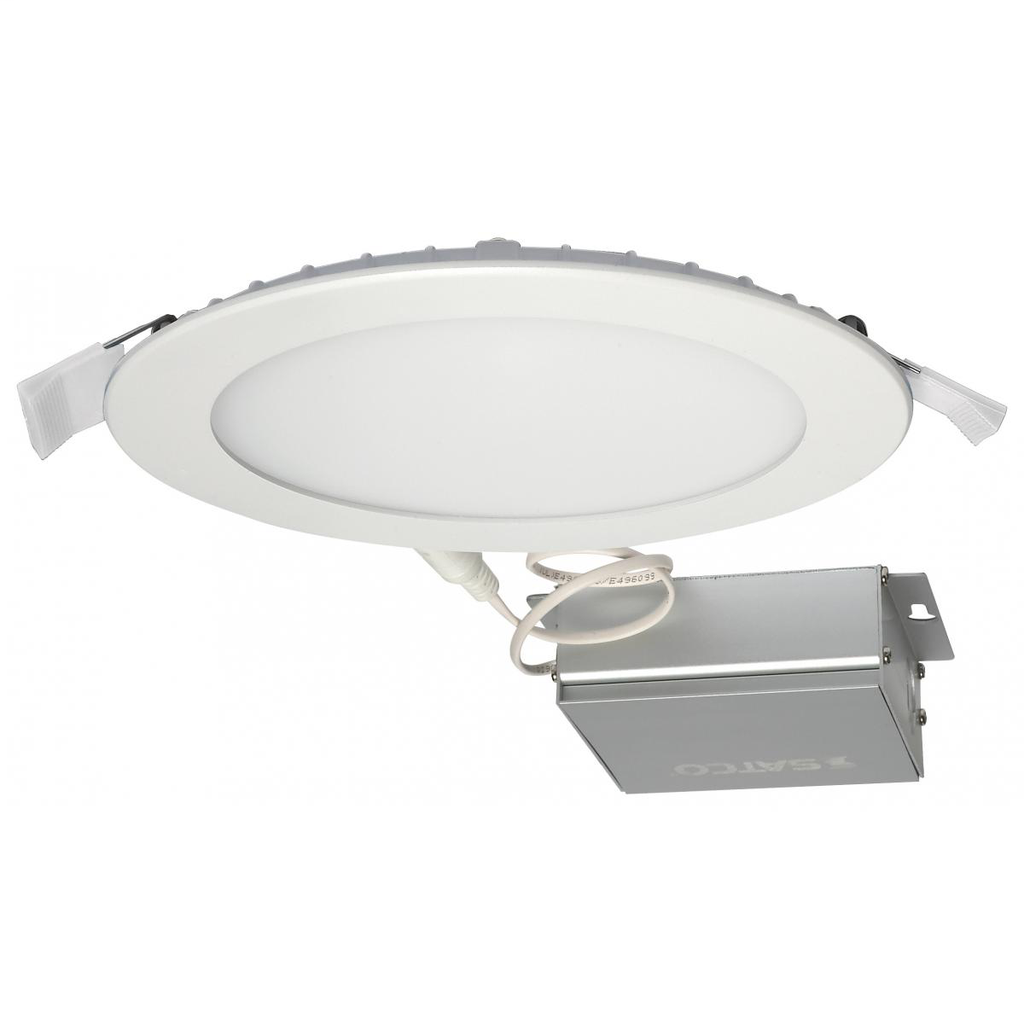 SAT S11603 12 WATT LED DIRECT WIREDOWNLIGHT; EDGE-LIT; 6 INCH; 3000K;120 VOLT; DIMMABLE; ROUND; REMOTEDRIVER