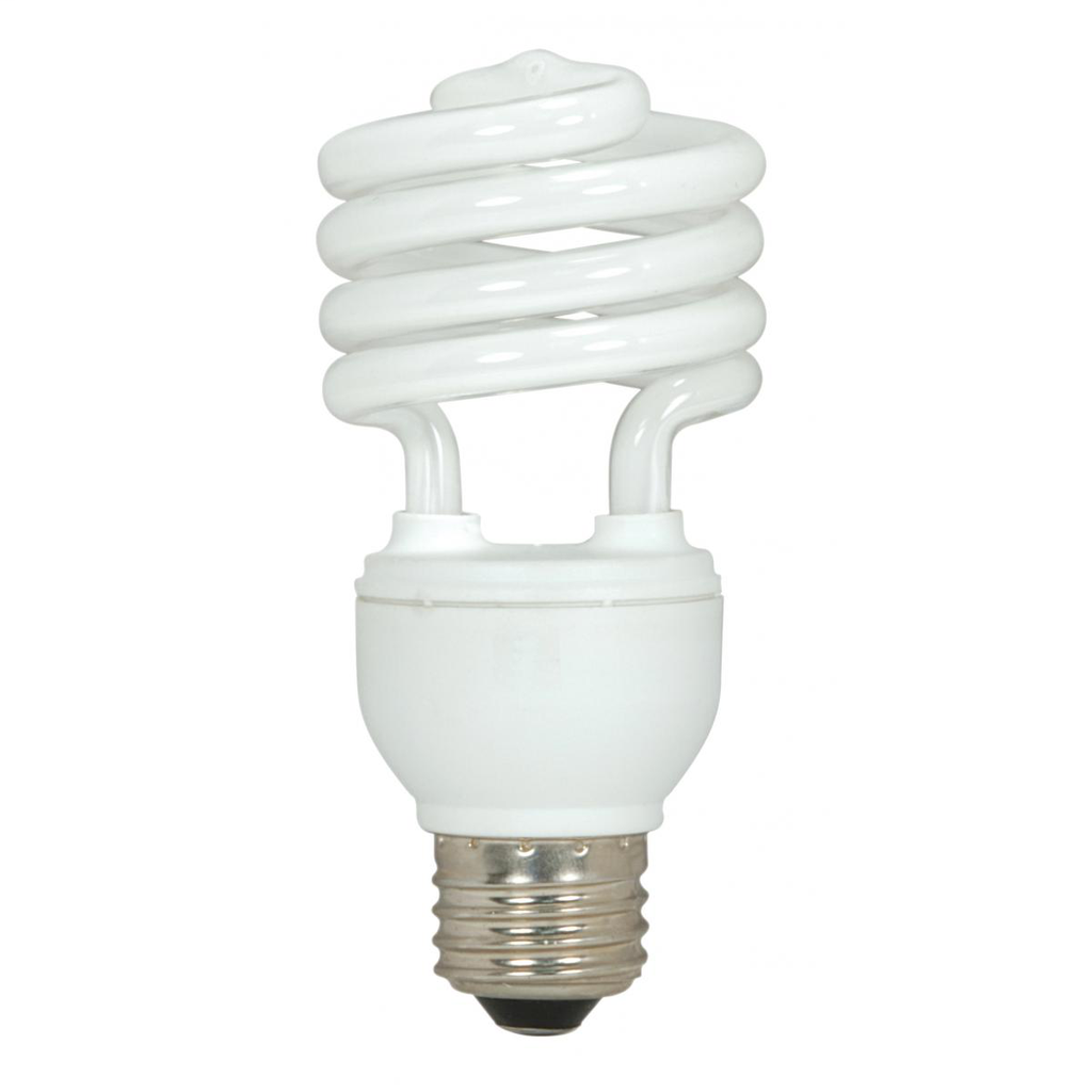 SATCO S6272 18 W 120 Volt 82 CRI 4100 K 1200 Lumen E26 Medium Base T2 Mini Spiral Compact Fluorescent Lamp