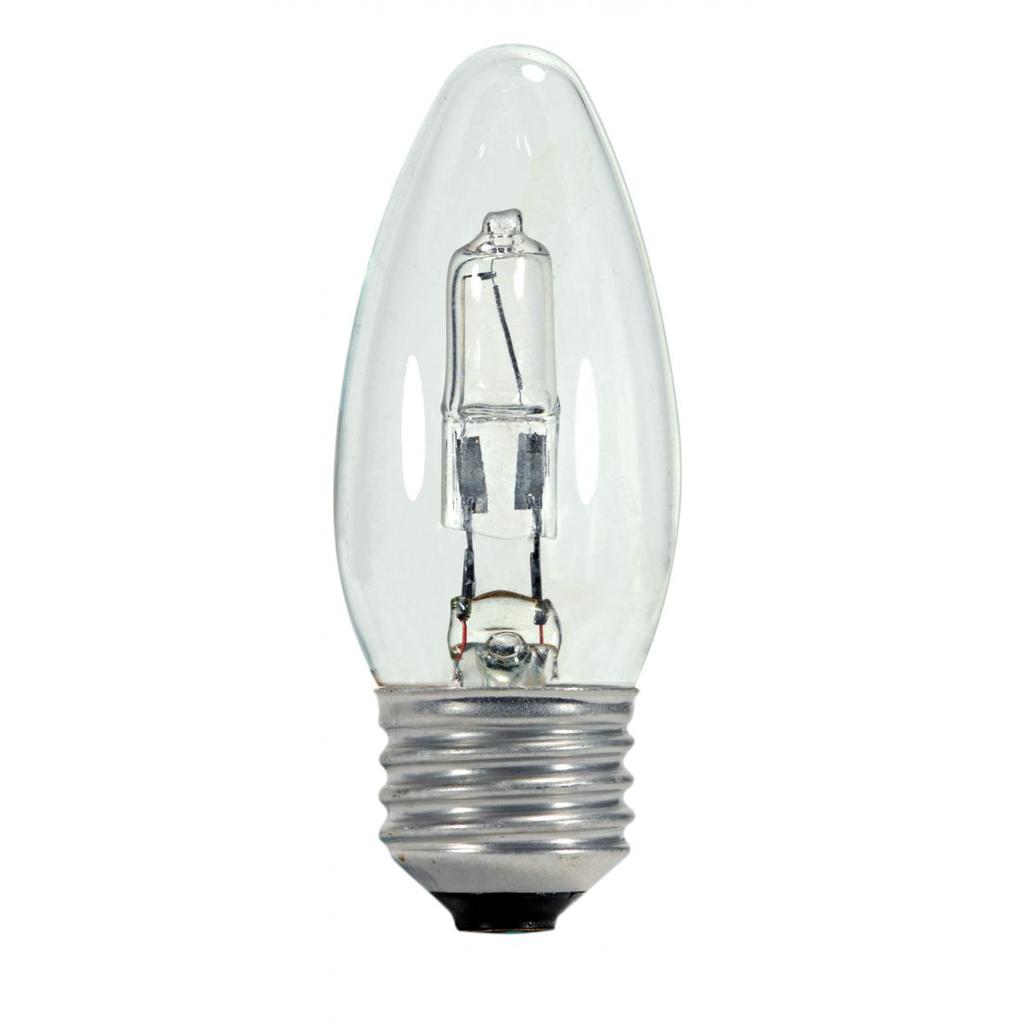 SATCO S2443 43 W 120 Volt 2900 K 750 Lumen Clear E26 Medium Base Torpedo Halogen Lamp