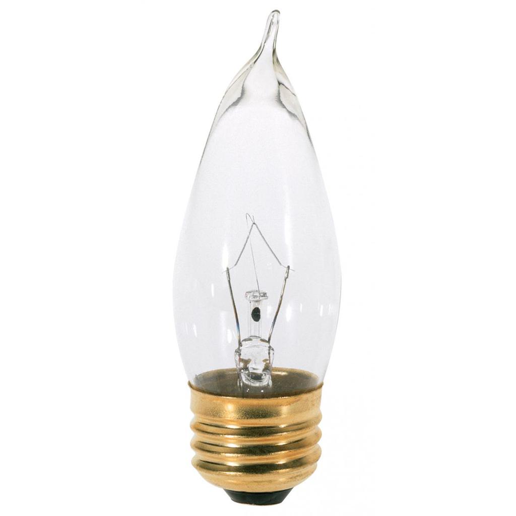 SATCO S3265 40 W 120 Volt 370 Lumen Clear E26 Medium Base CA10 Decorative Incandescent Lamp