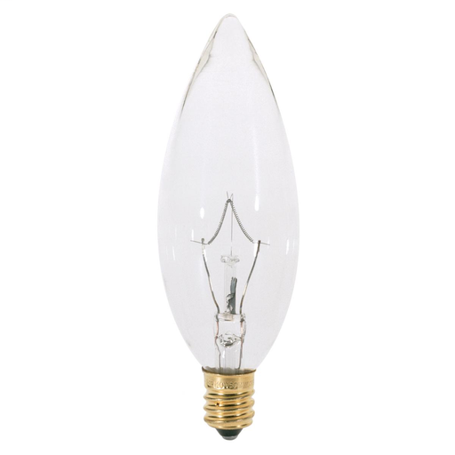 Clear 25-Pack 195-Lumen Light Bulb with Candelabra Base GE Lighting 15790 25-Watt