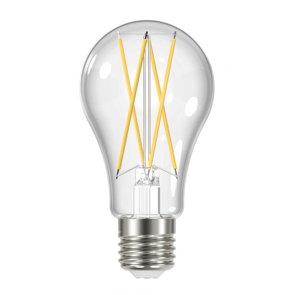 SAT S11513 12W A19 LED; CLEAR;MEDIUM BASE; 2700K; 120V; 4-PACK