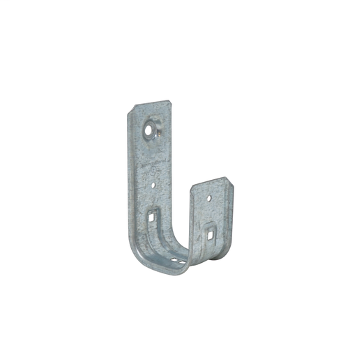 Mayer-2 in J cable support hooks are versatile and can be attached to a wide variety of structures using beam clamps clips and other support components available from Garvin. These support hooks eliminate the problem of point loads that can cause band width damage to sensitive cables such as fiber optic CAT 5E 6 7 or many others. . Retainer Clip Included!-1
