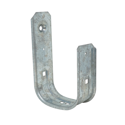 Mayer-4 in J cable support hooks are versatile and can be attached to a wide variety of structures using beam clamps clips and other support components available from Garvin. These support hooks eliminate the problem of point loads that can cause band width damage to sensitive cables such as fiber optic CAT 5E 6 7 or many others. Garvin' 4 in J cable support hooks are an inexpensive alternative to cable trays. This J-Hook has a cable fill rate of 300 Cat5E cables. Retainer Clip Included!-1