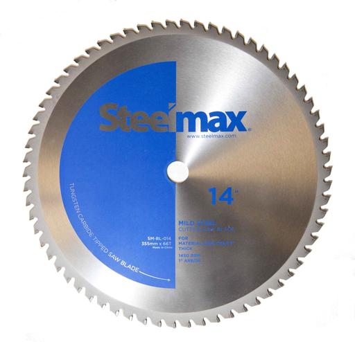"Steelmax 14"" Tungsten Carbide Tipped Metal Cutting Saw Blade for Mild Steel"