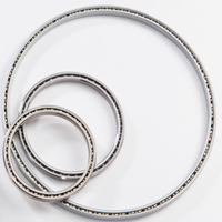 """Thin Section Ball Bearing, 1/4 x 1/4, Radial Contact, 2 Seals, 2"""" Bore Dia., 2.5"""" Outside Dia., .25"""" Width"""
