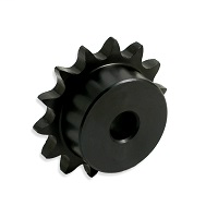"Sprocket, 1/4"" Pitch, 12 Hardened Teeth, 1/4"" Plain Bore"