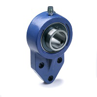 """3 Bolt Flange Bracket Unit, Domestic Dimensions, Standard Duty, Wide Inner Ring Insert, Set Screw, 1"""" Bore Dia., 1.6260"""" Bolt-Hole to Bolt-Hole Center , 1.125"""" Height"""