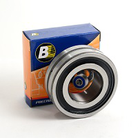 Spherical Roller Bearing, Straight Bore, Single Row, Sealed, 25mm Bore Dia., 52mm Outside Dia., 18mm Width