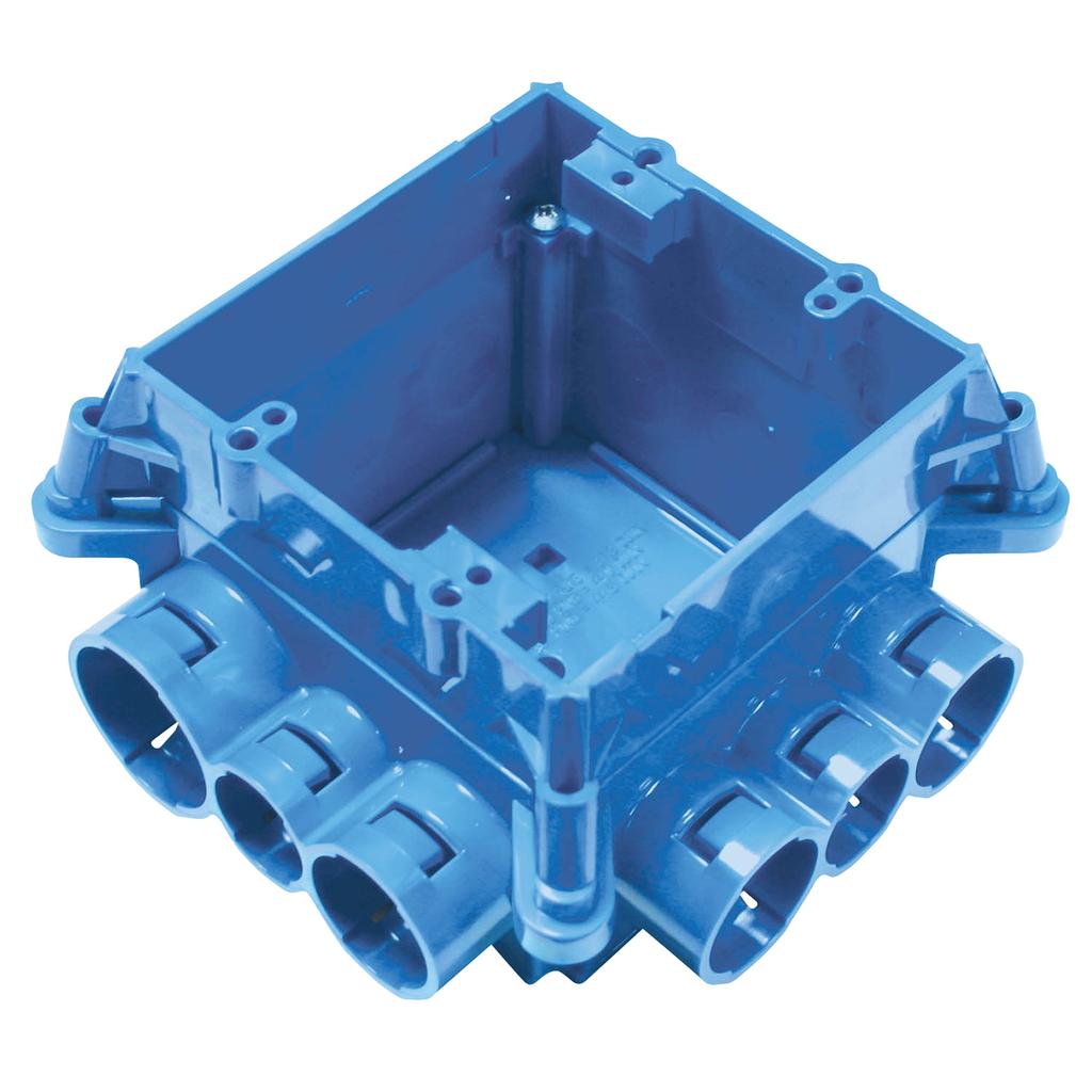 Carlon A863D ENT Mud Box w/ 2-Gang Ring, Non-Metallic