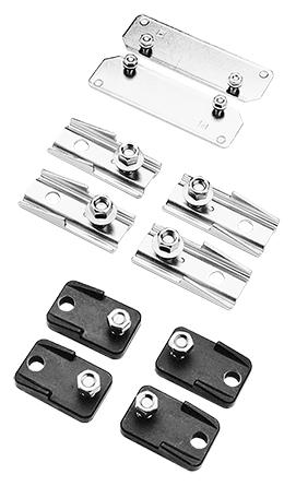 Mayer-Mounting Bracket Kit, Plastic, Black-1