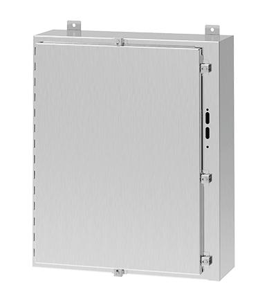 Hoffman A60HS3712SSLP 60 x 37.38 x 12 Inch 14 Gauge 304 Stainless Steel NEMA 4X Wall Mount Disconnect Enclosure