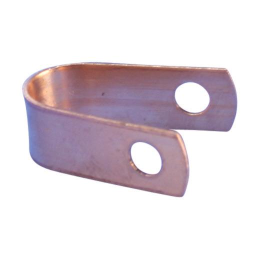 """Mayer-Single Hole Cable Strap, Copper, 0.469"""" OD-1"""