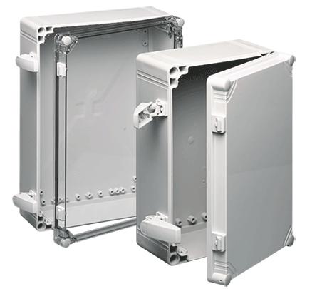 Hoffman Q403013PCI 15.28 x 11.34 x 4.84 Inch Light Gray Polycarbonate NEMA 4X Enclosure