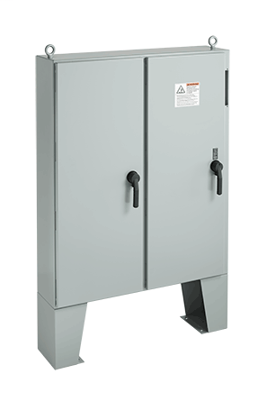 Hoffman A60X6112LPFTC 60.13 x 61.75 x 12.12 Inch White Steel NEMA 12 2-Door Free Stand Disconnect Enclosure
