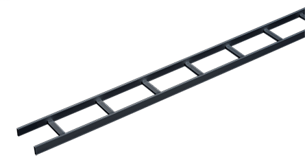 Mayer-Ladder Rack Straight Sections (cULus Classified), 12.00 wide, Black, Steel-1