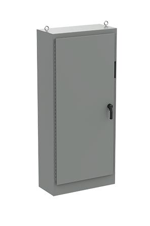 Hoffman A90XM4018FTCLP4 90.12 x 40.25 x 18.12 Inch Steel NEMA 4 1-Door Universal Cutout Disconnect Enclosure