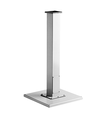 Hoffman A44CCOL 35 x 4 x 4 Inch Straight Gray Polyester Powder Painted Steel Pedestal