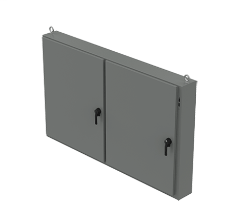 Hoffman A48X2E7818 48 x 78.5 x 18 Inch Steel NEMA 12 2-Door Low Profile Wall Mount Disconnect Enclosure