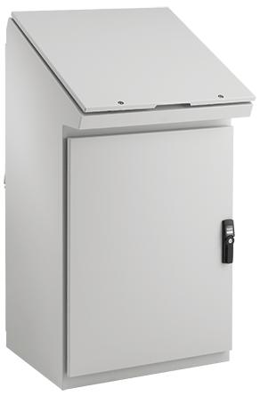 Hoffman PGLD1074DC 39.87 x 25.23 x 15.47 Inch Light Gray 14 Gauge Steel NEMA 12 Desk Console