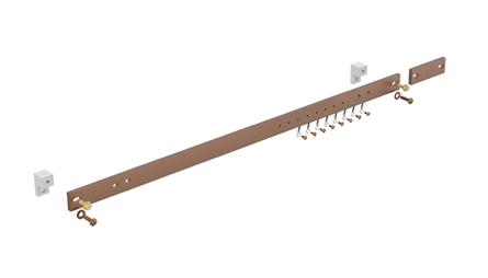 Hoffman DG19 1 x 19.25 x 0.25 Inch Horizontal Ground Bar Kit