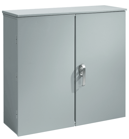 Hoffman A404014CTDP 40 x 40 x 14 Inch Steel Hinged Double Door