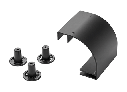 Hoffman LRD12BLK 12 Inch Black Radius Drop Kit